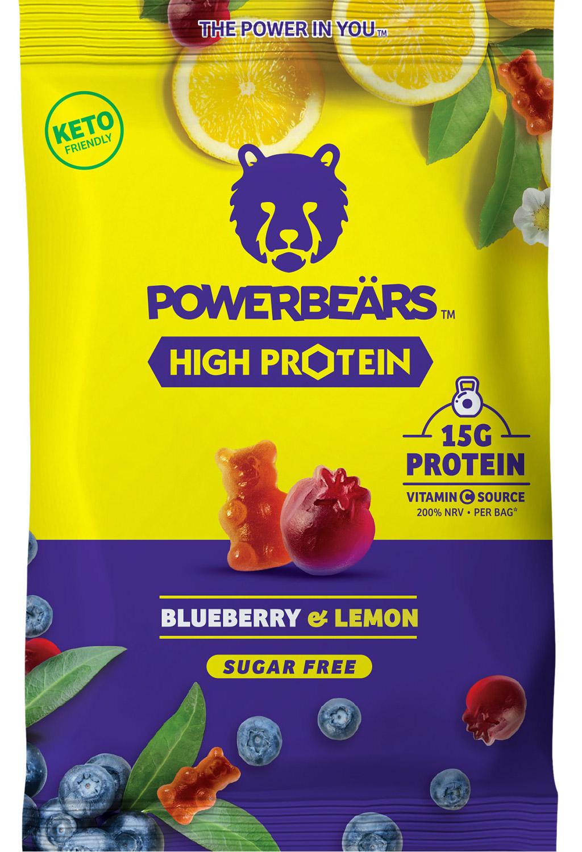 Powerbeaers High Protein Blueberry+Lemon sugarfree 50g