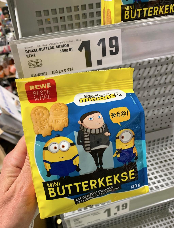 REWE Beste Wahl Mini-Butterkekse Minions 130G