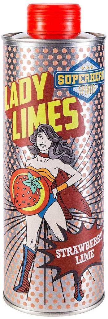 Superhero Spirit Lady Limes Strawberry Lime Drink