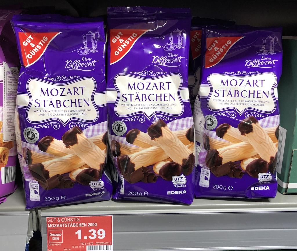 EDEKA Gut+Günstig Mozart Stäbchen 200G