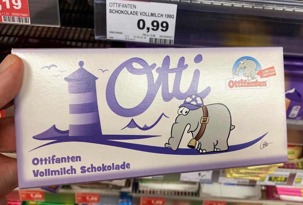 EDEKA Otti Ottifanten Vollmilch Schokolade