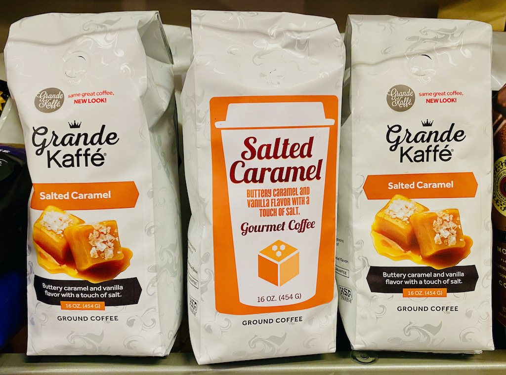 Grande Kaffé Salted Caramel-Gourmet Coffee Salted Caramel Buttery Caramel and Vanilla Flavor with a touch of salt 454G-