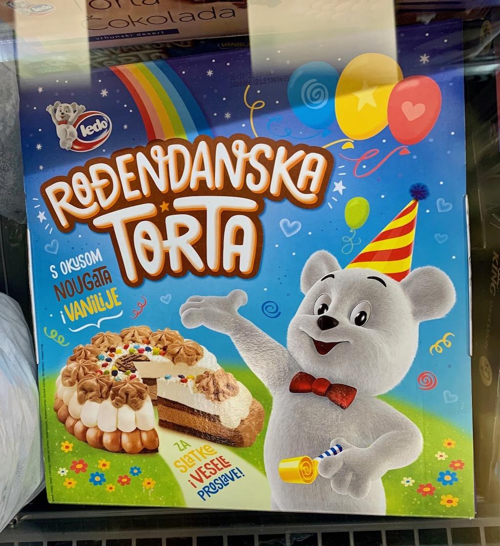Ledo Rodendanska Torta Nougat Tiefkühltorte Kroatien Teddybär