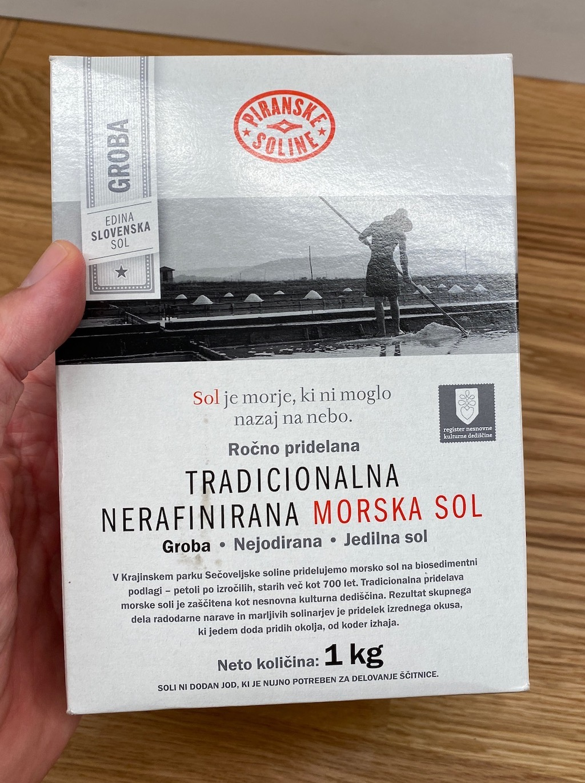 Piranske Soline Meersalz aus Slowenien 1Kilo