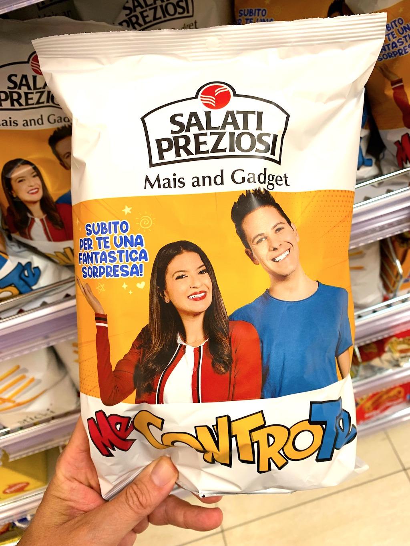 Salati Preziosi Mais and Gadget Me Contro Te Flips mit Spielzeug Italien