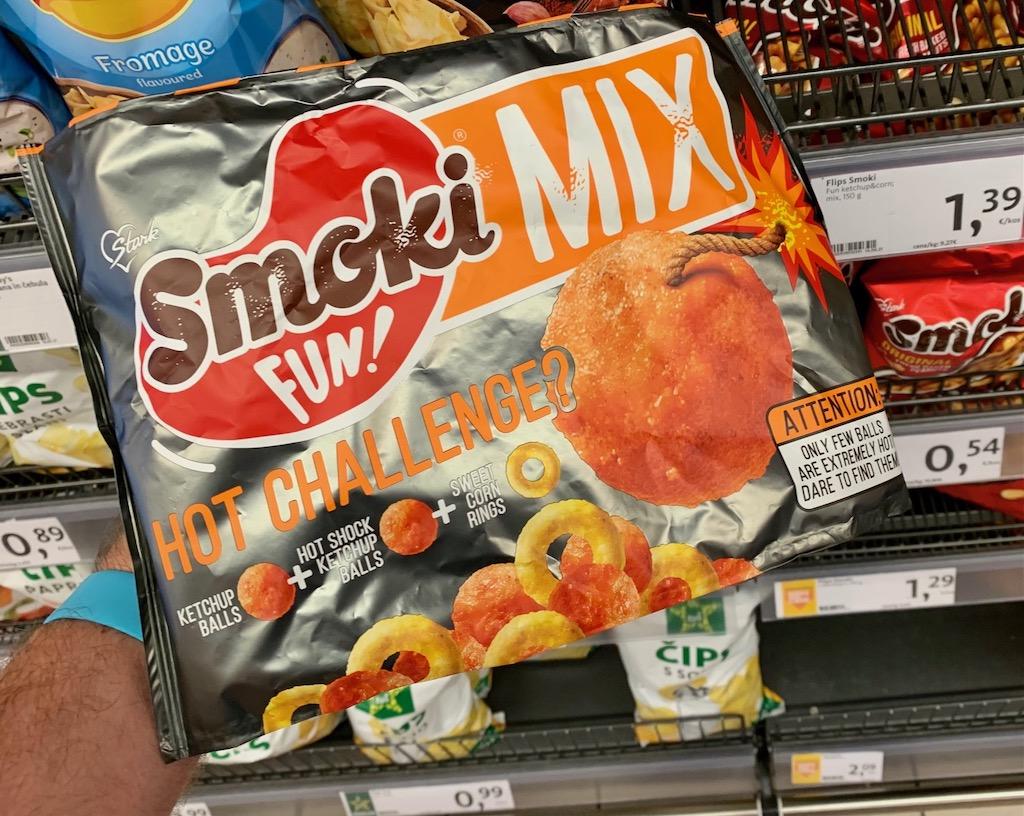 Stark Smoki Fun Mix Hot Challange Ketchup Balls-Hot Shock Ketchup Balls-Sweet Corn Rings Snack