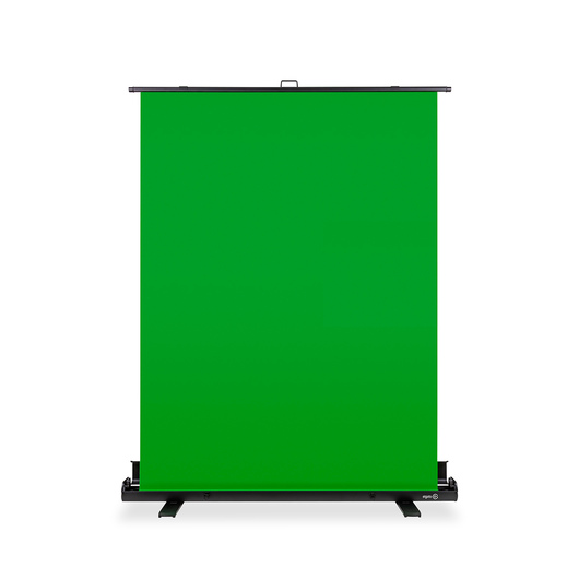 Retractable green screen for live streaming in virtual and distance learning situations