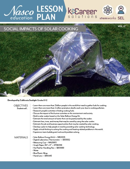 Download the Social Impacts of Solar Cooking lesson plan now