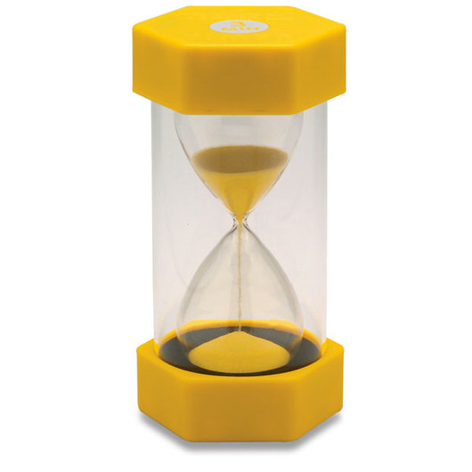 Use a simple timer, like this sand timer, to hold yourself accountable in order to be more efficient.