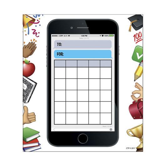 Emoji Fun Smartphone Fun Student Incentive Chart