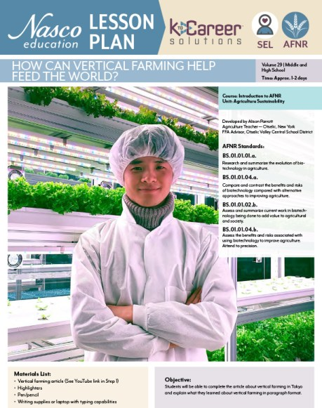 How Can Vertical Farming Help Feed the World lesson plan