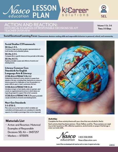 Action and Reaction: Historical Examples of Responsible Decisions SEL Lesson Plan