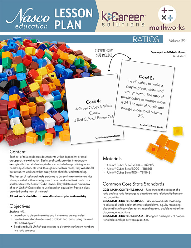 Download the Ratios Lesson Plan now