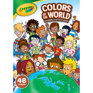 48-Page Coloring Book, Colors of the World