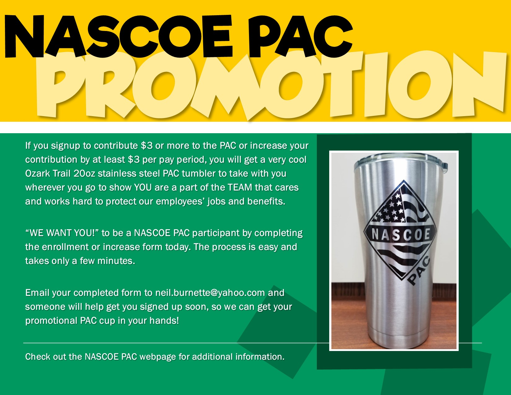 The NASCOE PAC | NASCOE on pa forms, rca forms, pca forms, dual forms,