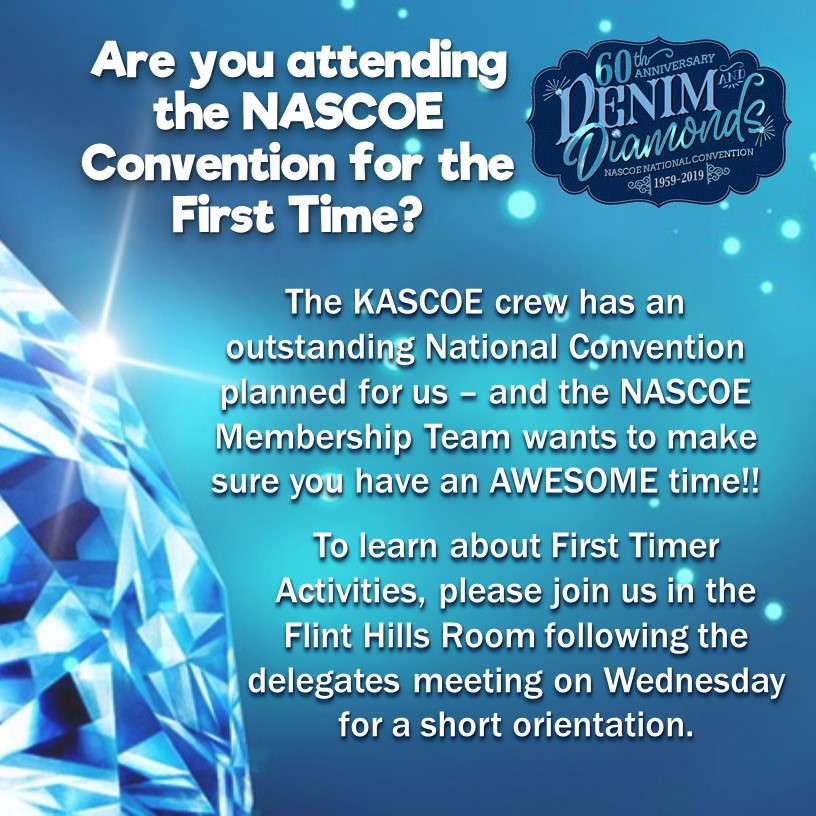 Advertisement for First Time Convention attendee orientation