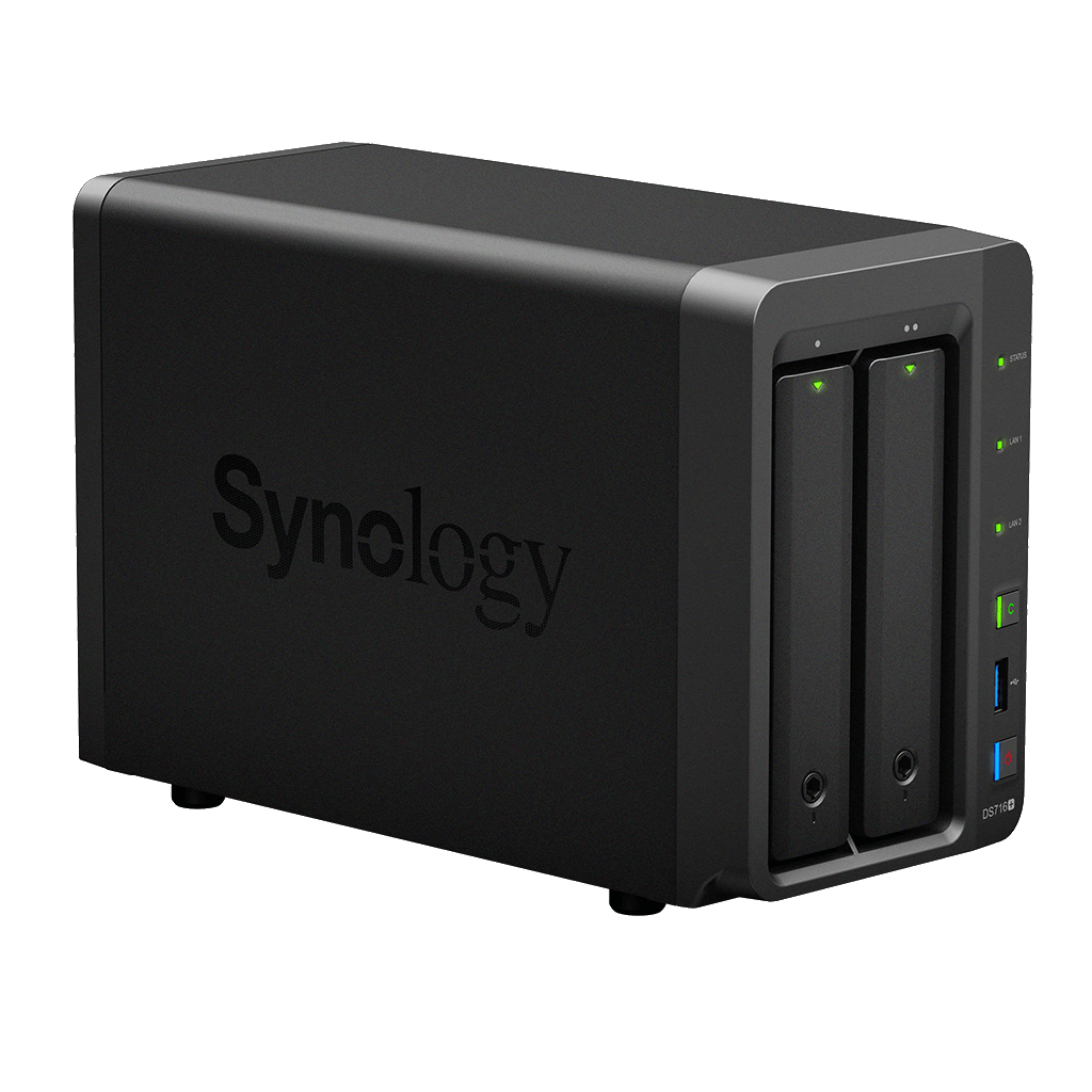 Synology DS716+II Intel 2.24GHz QuadCore 8GB 2-Bay NAS Server