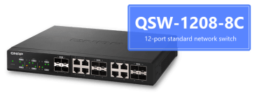 The QNAP QSW-1208-8C 10GBe Unmanaged Switch 12x SFP+ and 8x RJ45 AT £200+