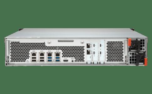 The QNAP TVS-1582TU finally revealled - The Thunderbolt 3 Rackmount NAS back