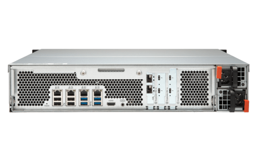 The QNAP TVS-1582TU finally revealled - The Thunderbolt 3 Rackmount NAS back