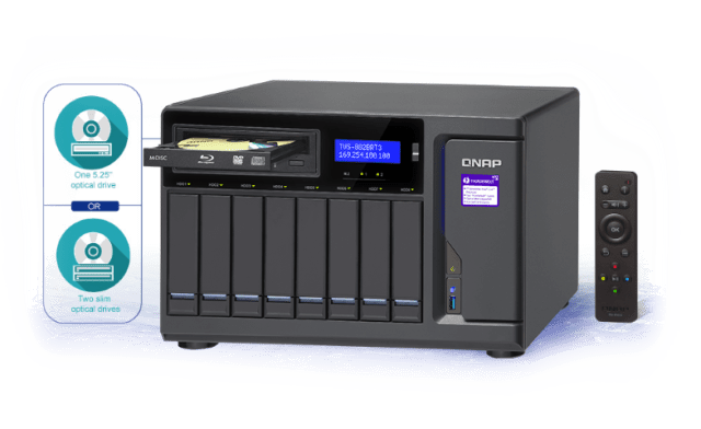 The QNAP TVS-882BRT3 provides Easy installation, quick backup and sharing