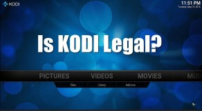 is kodi illegal or legal to watch tv on my nas