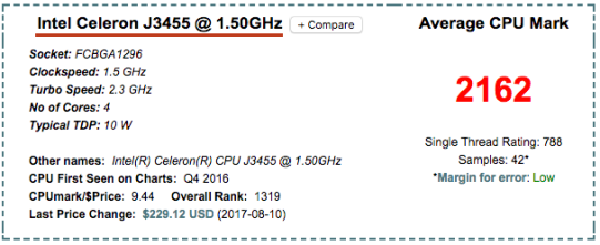 Intel Celeron J3455 ds918+ NAS CPU