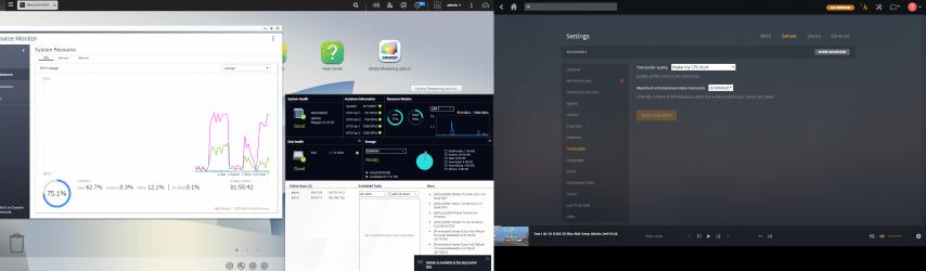 QNAP TS-877 NAS PLEX Media Server Transcoding 4K and 1080p
