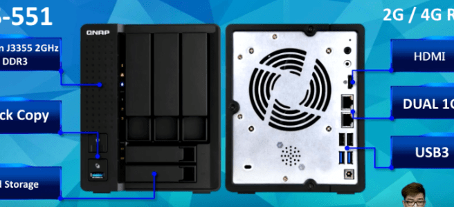 The QNAP TS-551 3/5 Bay NAS - New QNAP Announced! - NAS Compares