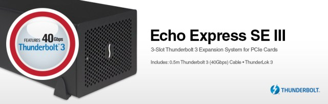 Echo Express SE III: 3-Slot Thunderbolt 3 Expansion System for PCIe Cards