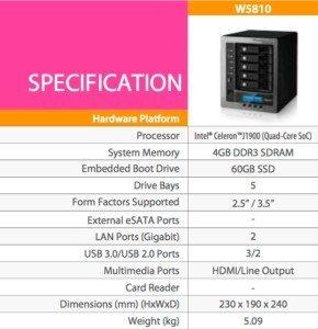 W5810_especificaciones