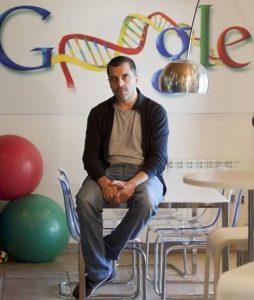 Bernardo Qintero en la sede en Google