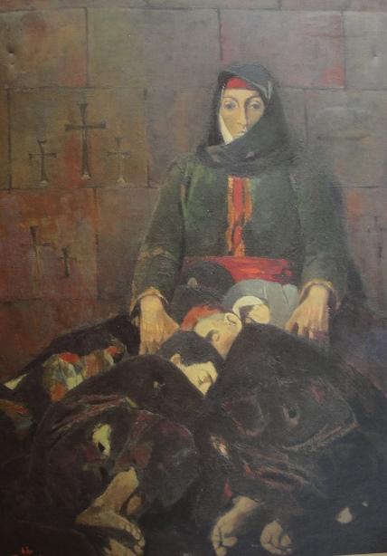 Эдуард Арцрунян. Мигранты в 1915 году в Эчмиадзине