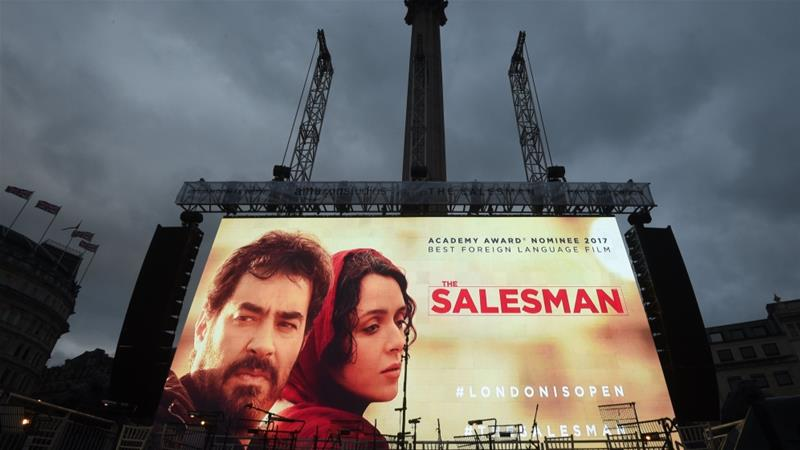 The director of The Salesman chose to boycott the ceremony [EPA]