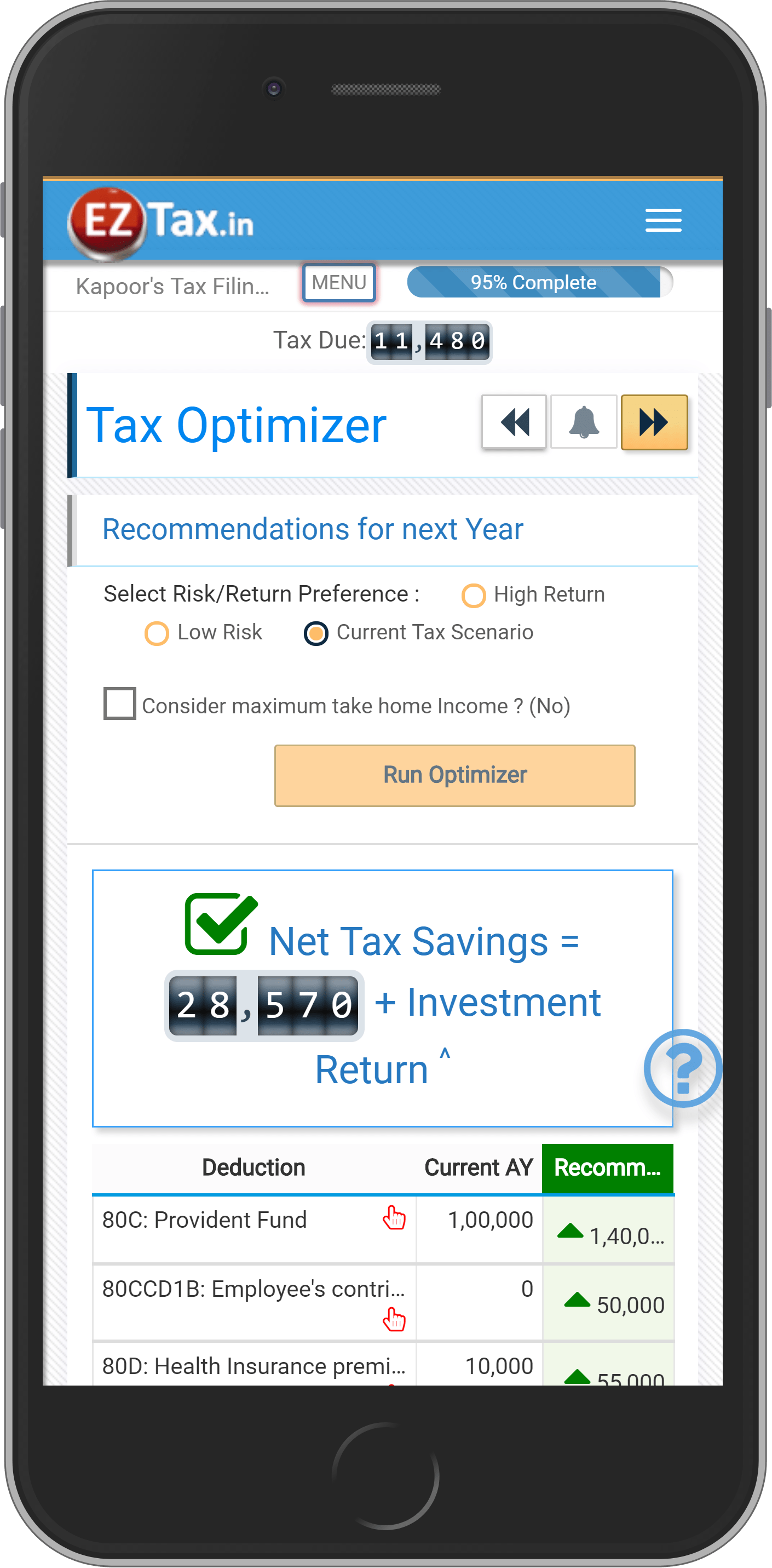 Tax Planing for every Tax Filer w EZTax in