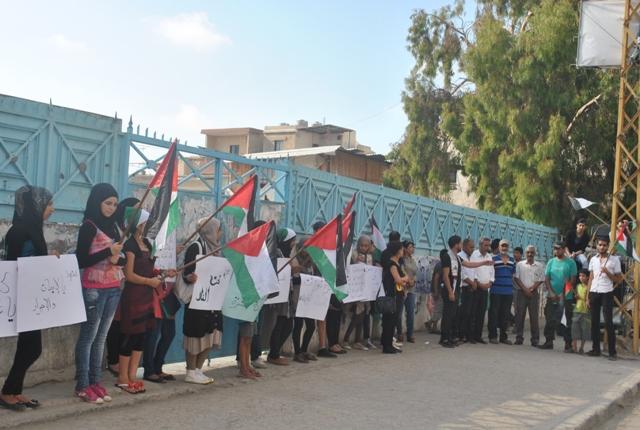 وقفة تضامنيّة في عين الحلوة ضدّ الهجمة الصهيونيّة والصمت الدولي
