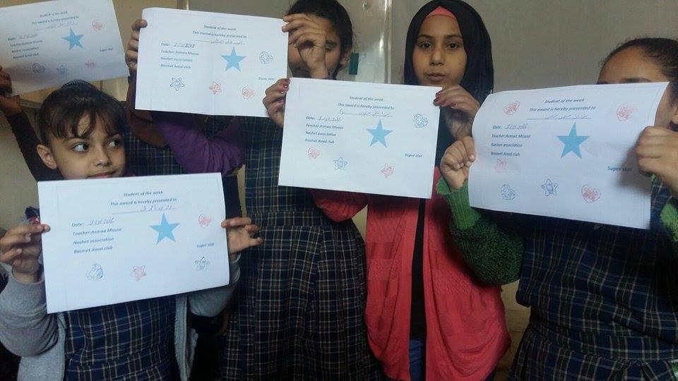 نادي بسمة أمل للنازحين - تدعيم دراسي وأنشطة متنوّعة وتكريم للمتميّزين