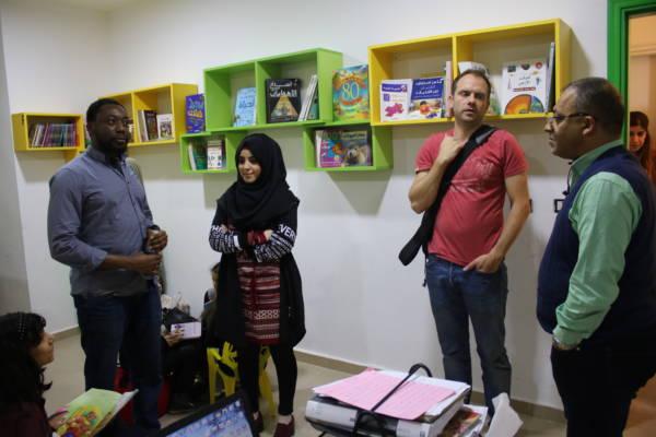 زيارة وفد الشركاء الالمان الى مراكز جمعية ناشط الثقافية الاجتماعية