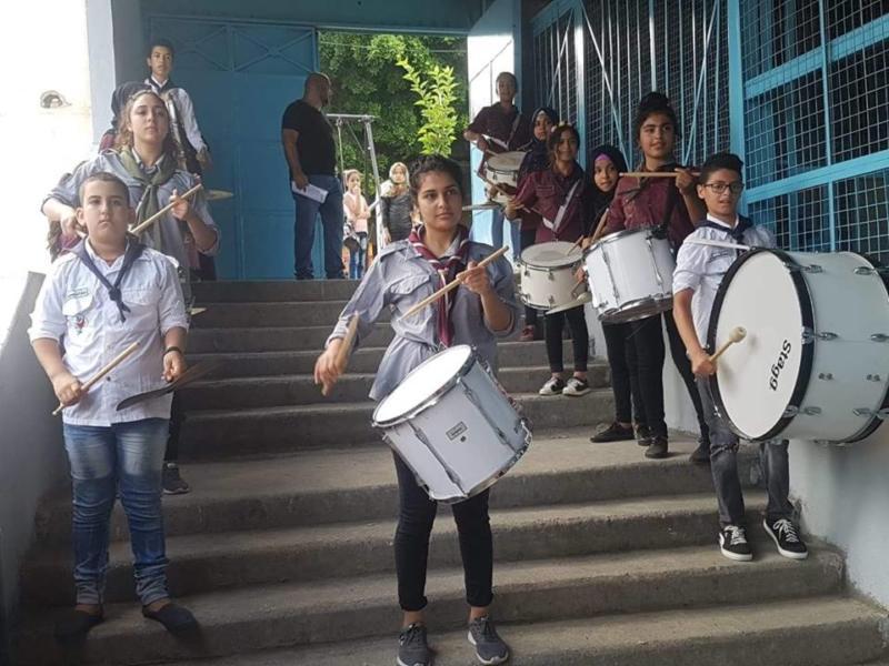 """""""كشافةناشطتفتتح برنامج الدعم الدراسي في مدارس الانروا داخل مخيم عين الحلوة"""""""