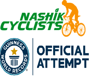 nashik cyclists guinness book of world record of longest single line of bicycles moving