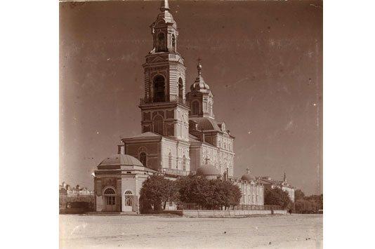 Кафедральный Богоявленский собор, взорванный в 1930 году. Фото 1910 года