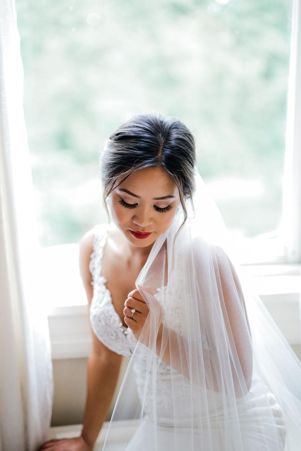 Bridal hair and makeup: Elegant Riverwood Mansion wedding featured on Nashville Bride Guide