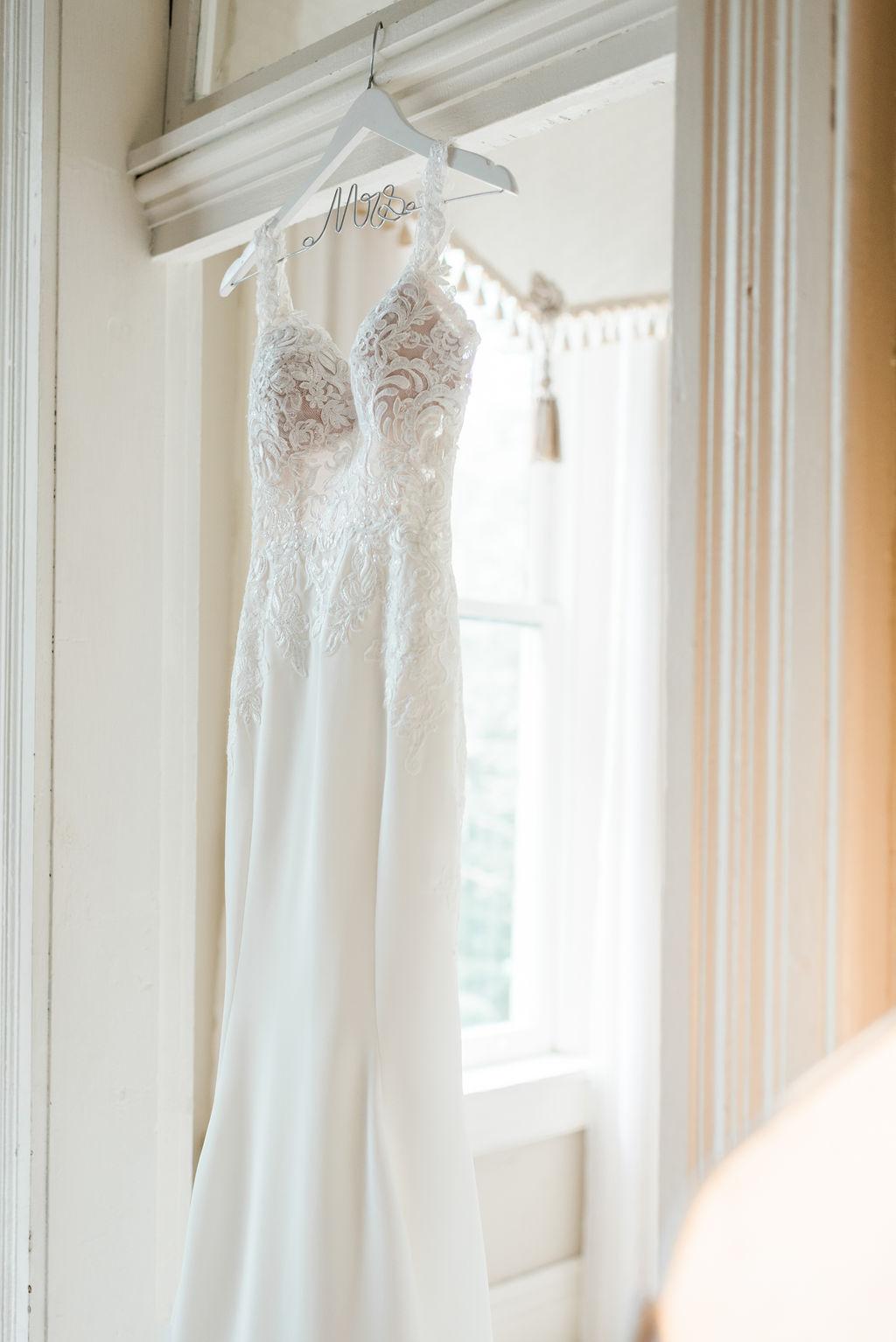 Wedding dress portrait: Elegant Riverwood Mansion wedding featured on Nashville Bride Guide