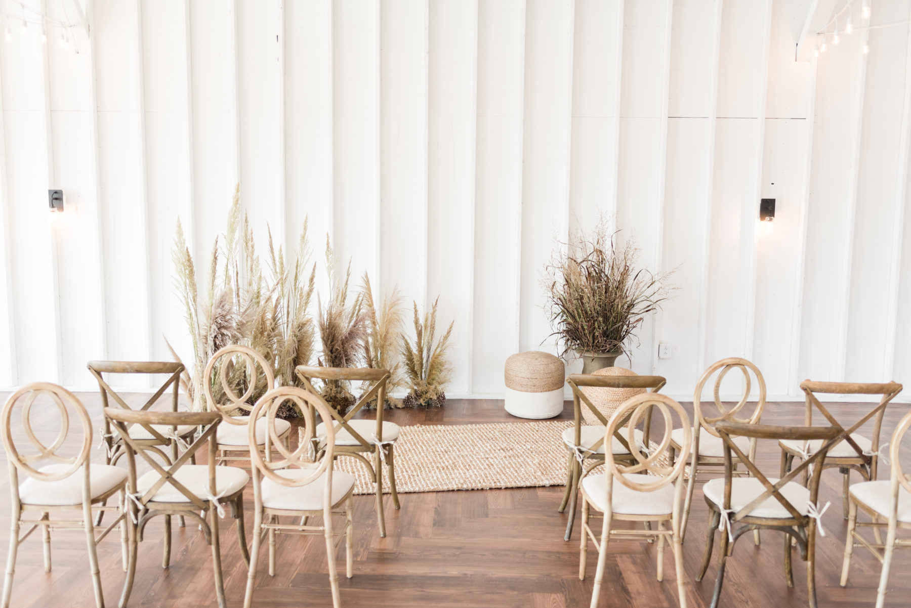 Pampas Grass Wedding Ceremony Decor: Organic Eco-Friendly Wedding Styled Shoot featured on Nashville Bride Guide
