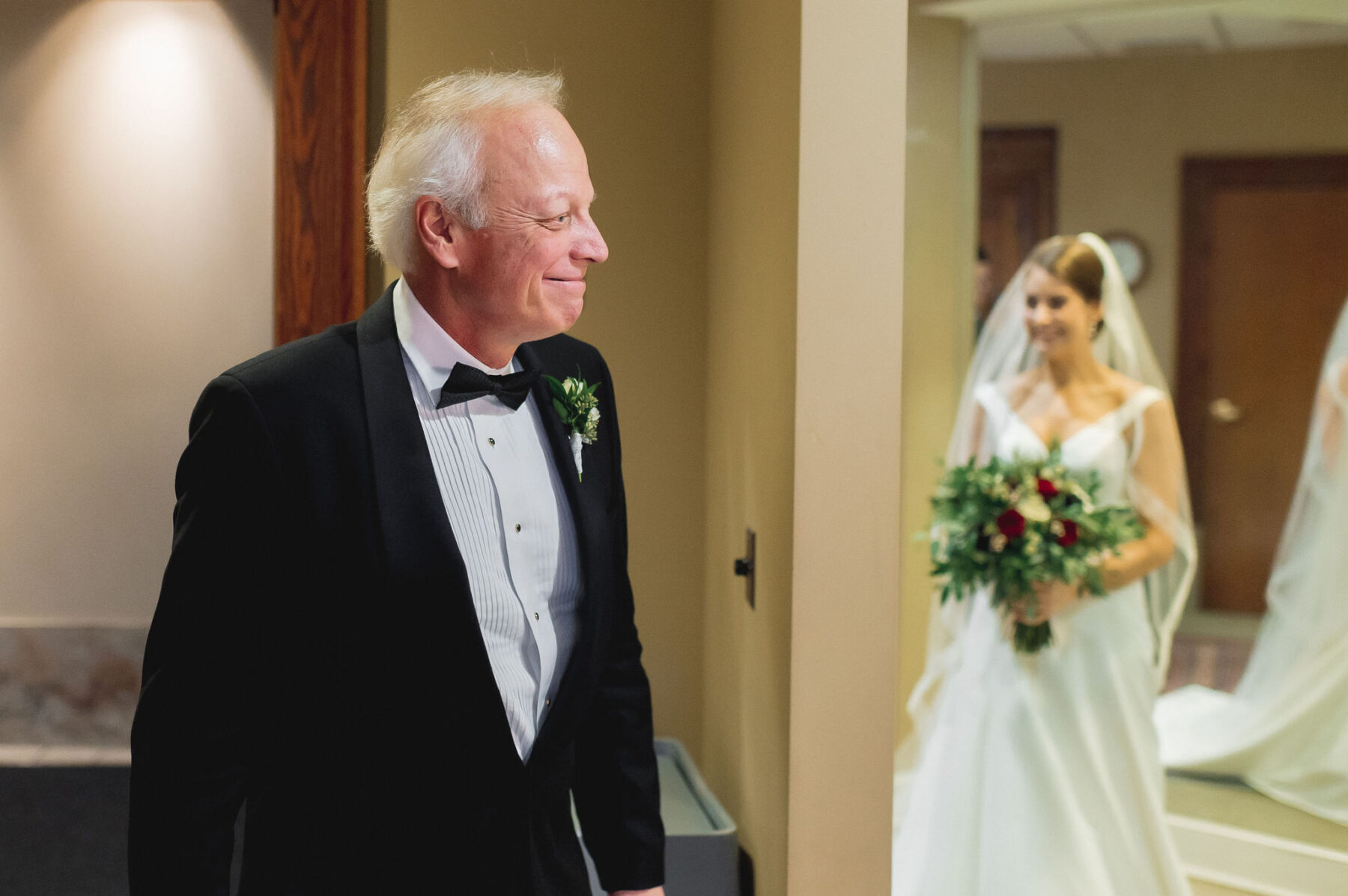 Father daughter first look: Classic Winter Wedding by Details Nashville