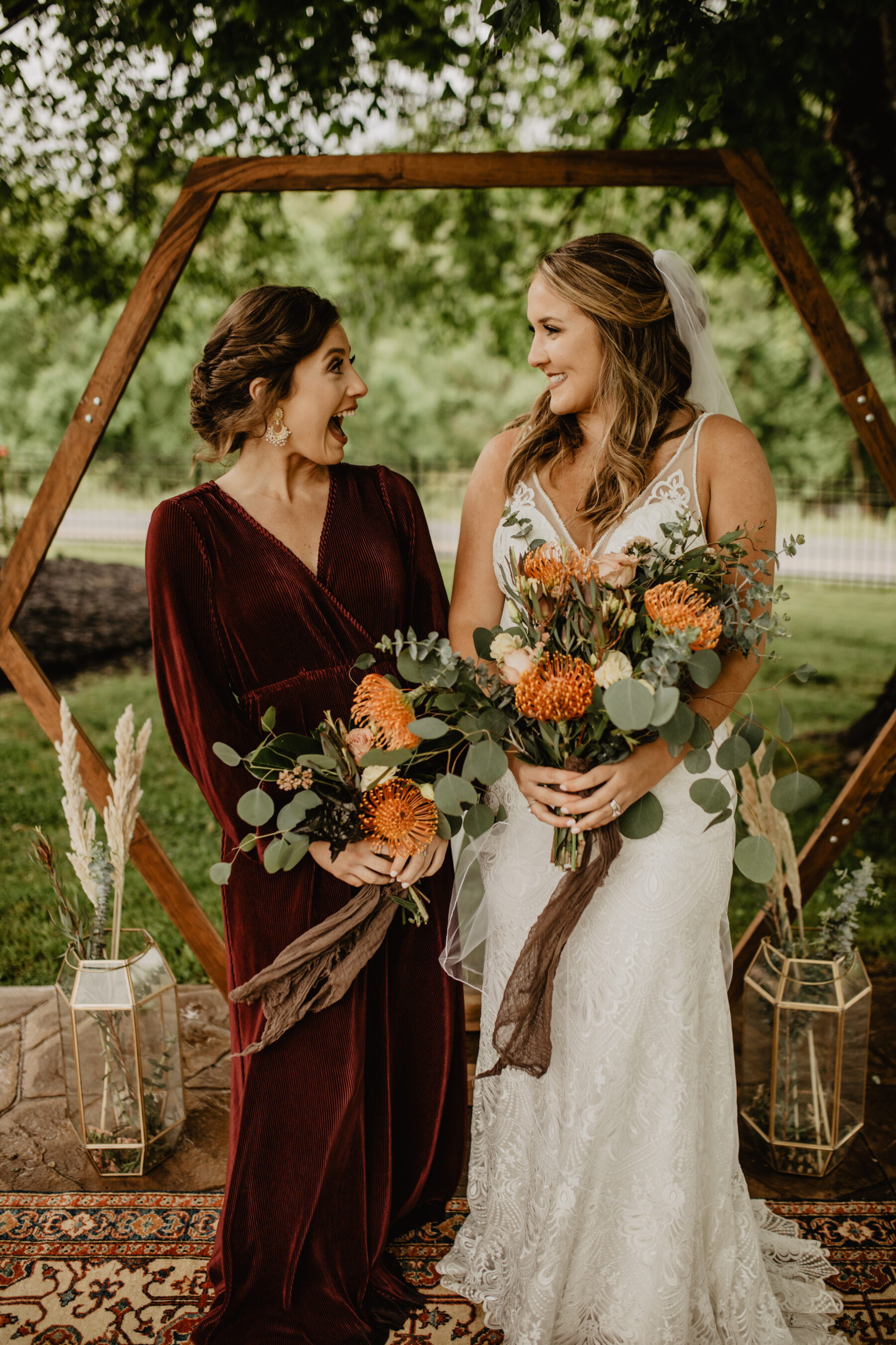 Velvet bridesmaids dress: Stunning Fall Styled Shoot at Promise Manor featured on Nashville Bride Guide