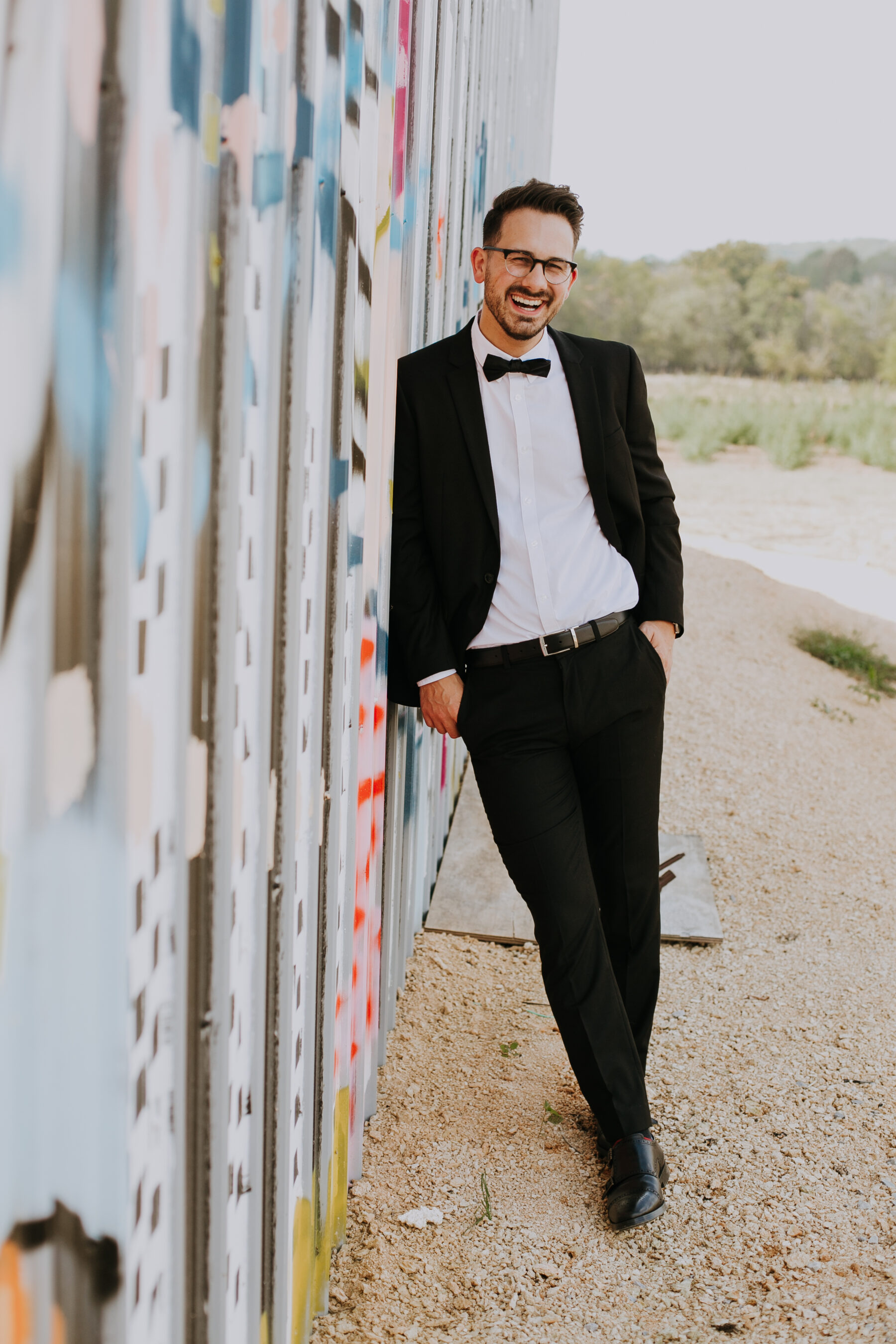 Classic black tuxedo: Nashville Wedding with Beautiful Views by Teale Photography featured on Nashville Bride Guide
