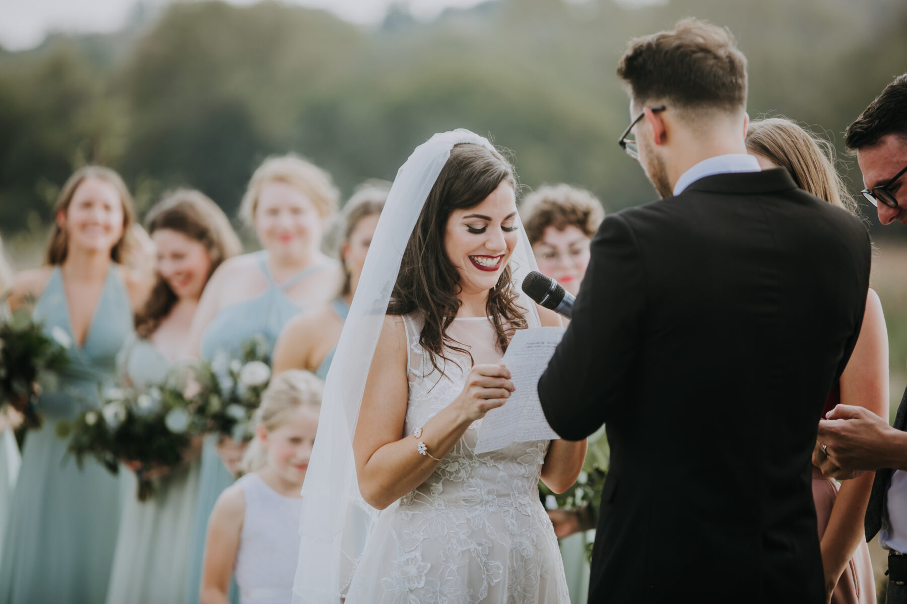 Wedding vows: Nashville Wedding with Beautiful Views by Teale Photography featured on Nashville Bride Guide