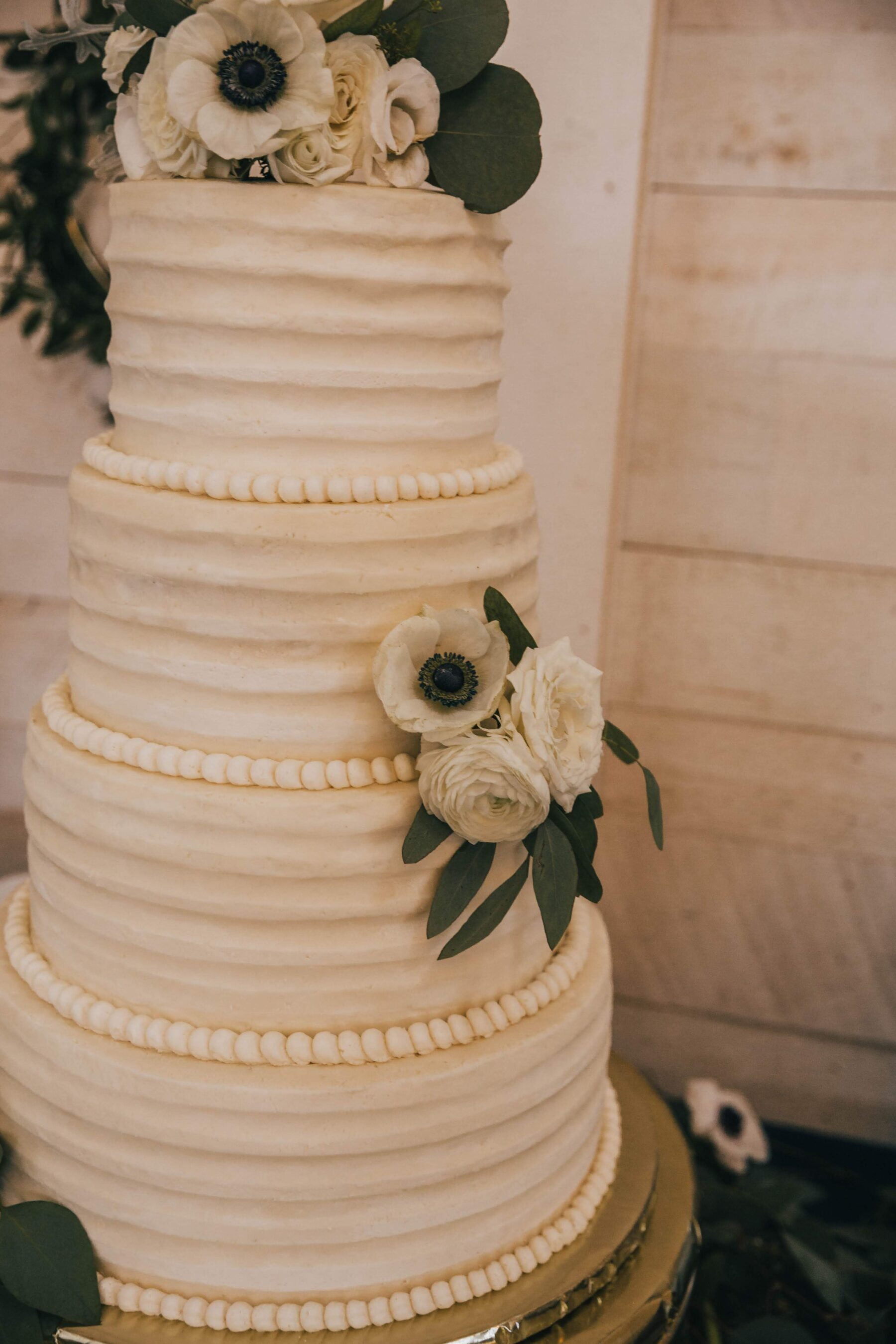 Classic wedding cake design: White Dove Barn Wedding by Grace Upon Grace Photography featured on Nashville Bride Guide