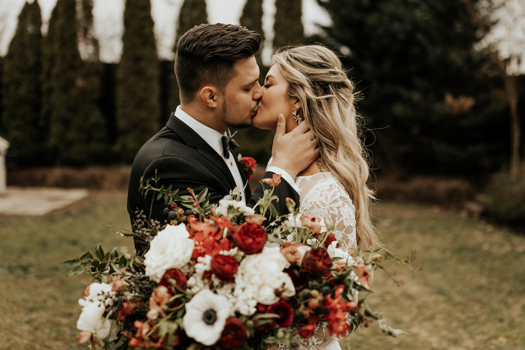 Moody Winter Wedding from Posh Occasions featured on Nashville Bride Guide